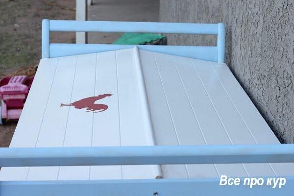 Курятник из детской кроватки за один день