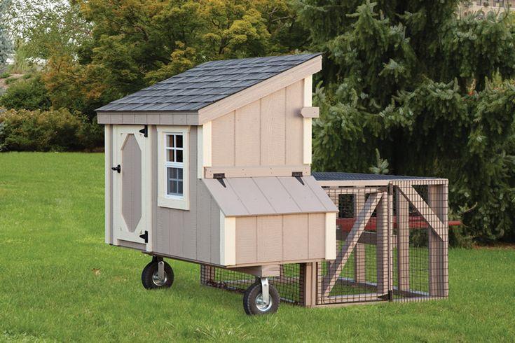 Передвижной курятник на колесах для дачи и сада