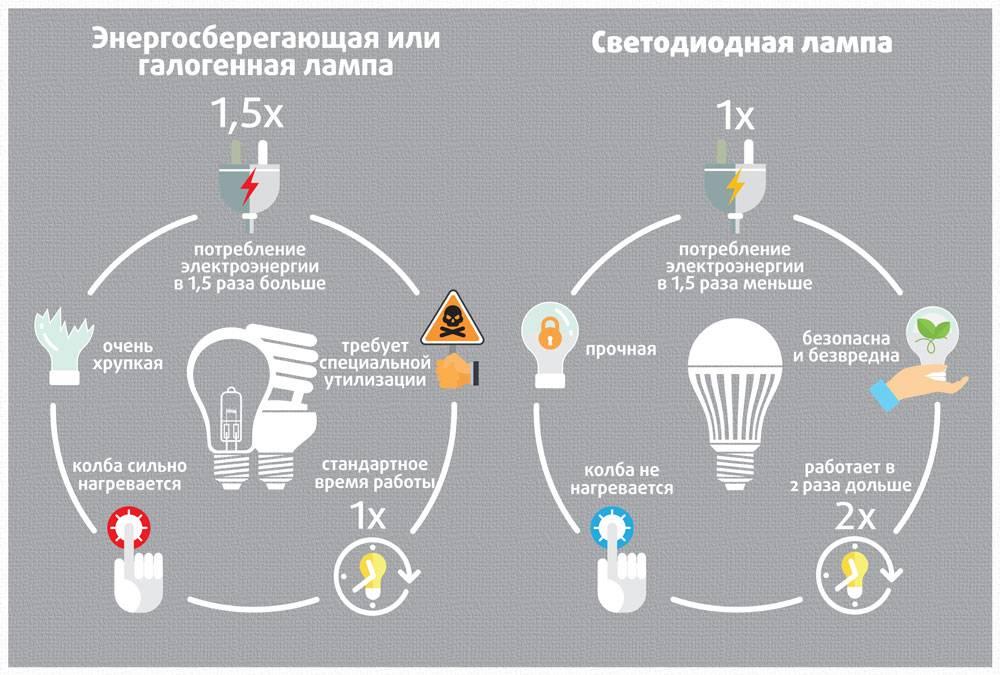 Светодиодные лампы – энергосберегающий свет