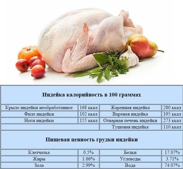 Пищевая ценность куриного мяса и химический состав