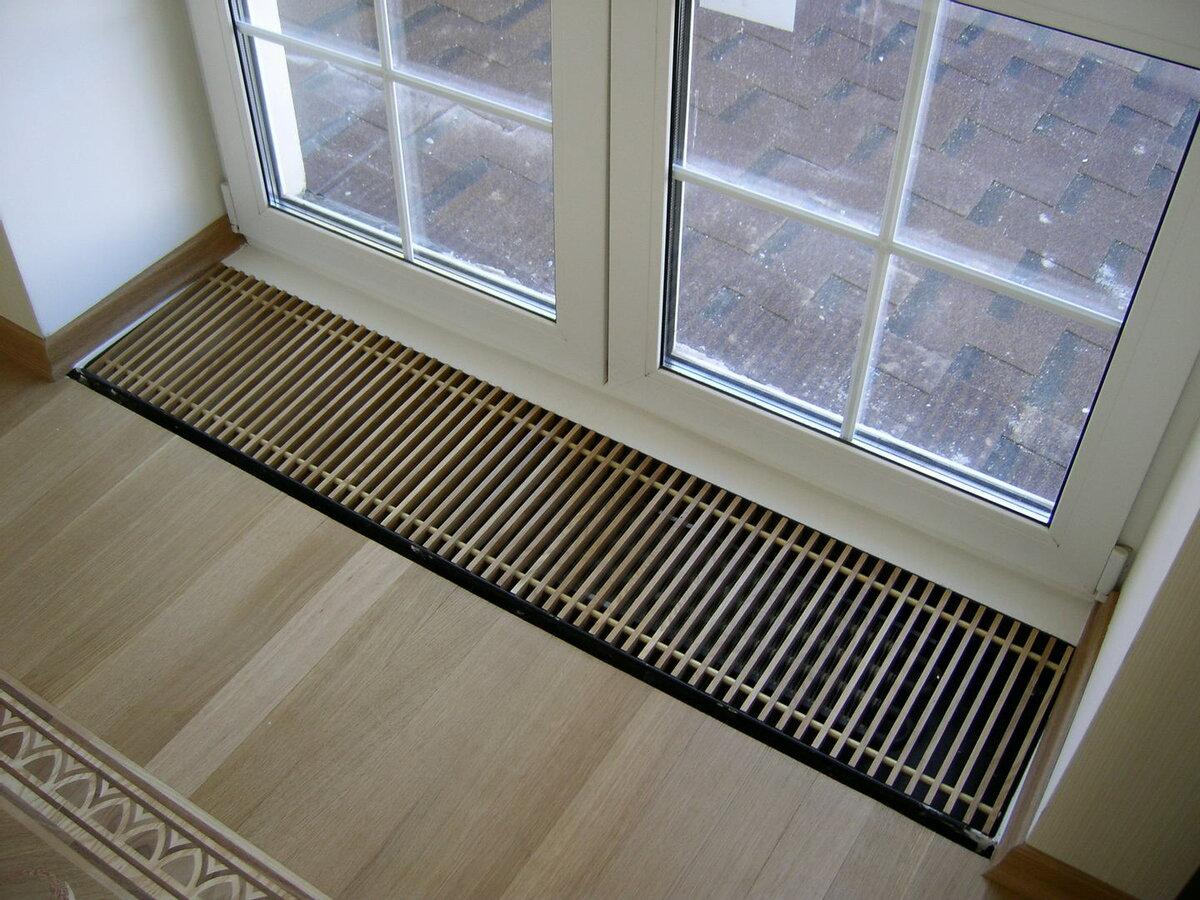 Внутрипольный конвектор отопления для дома и дачи