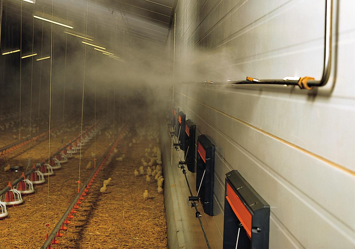 Снижение микробного загрязнения воздуха в птичниках