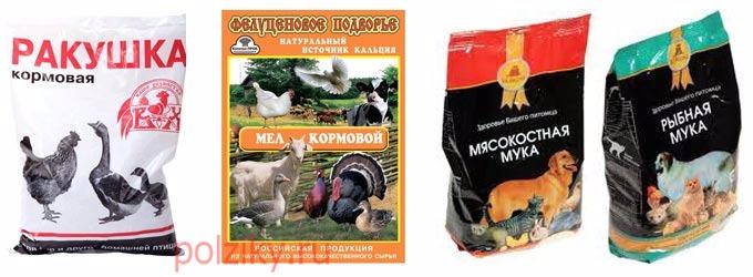 Костная и мясо-костная мука в качестве белковых добавок для кур