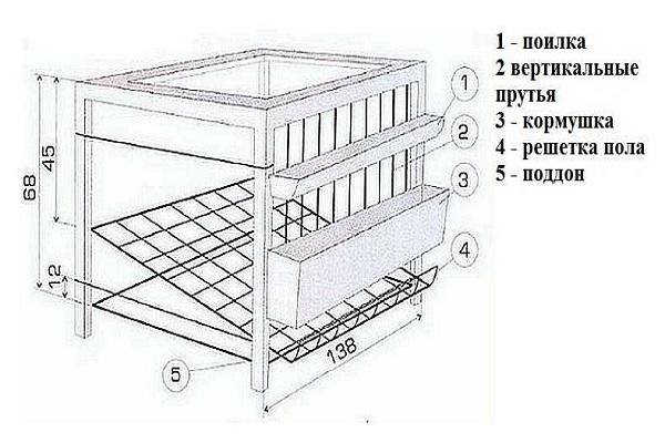 Как сделать клетку для перепелов